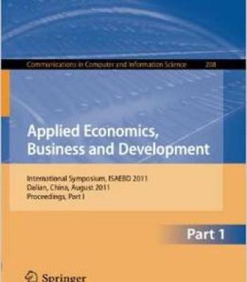 Applied Economics Business And Development By Qingyuan Zhou PDF