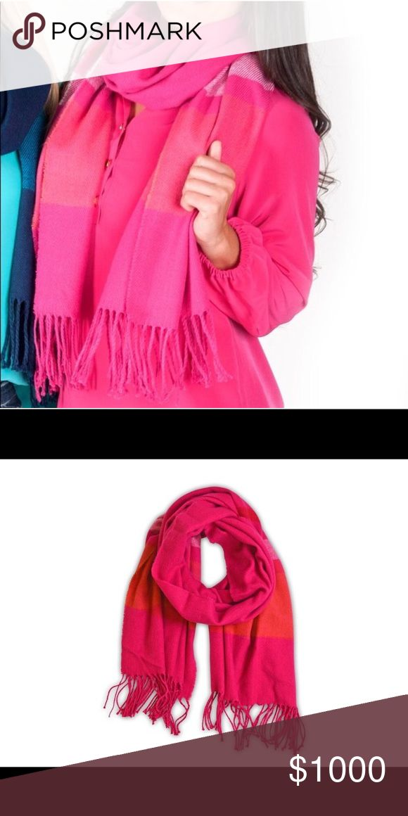 """COMING SOON: Pink Scarf Adorable, fun scarf with fringe ends and wide striping! The perfect scarf to add style and warmth! (Goes great with Heathered Slouchy Top found in my boutique)  Details: ~Stylish and warm fringe end scarf ~Extremely soft and warm ~Oversized: 70""""x28"""" ~100% Polyester Great gift!!  COMING SOON:  ~Like this item to receive notification when available ~Comment to claim yours ~Will be listed for $25 All For Color Accessories Scarves & Wraps"""