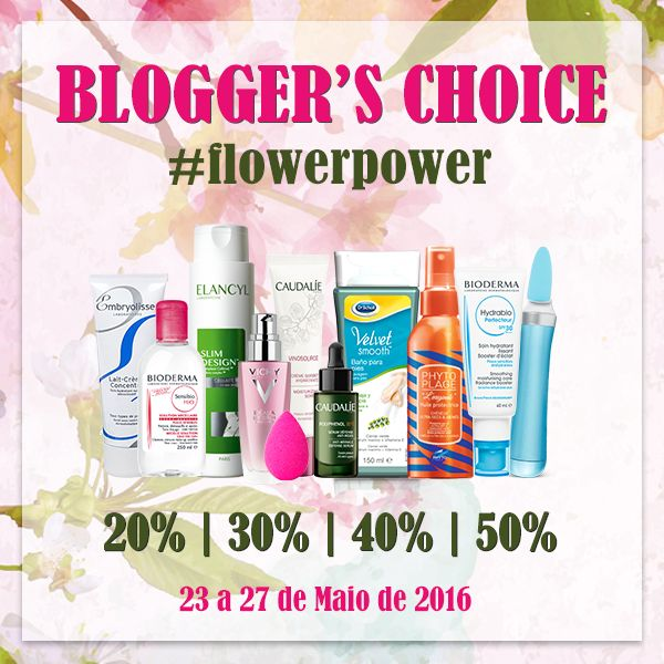 Amostras e Passatempos: Blogger's Choice #FlowerPower by Skin