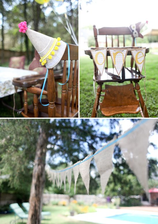 cute high chair banner: Hats Ideas, Parties Hats, Birthday Parties, Party Hats, Birthday Hats, 1St Birthday, Adorable Birthday, High Chairs Banners, Birthday Ideas