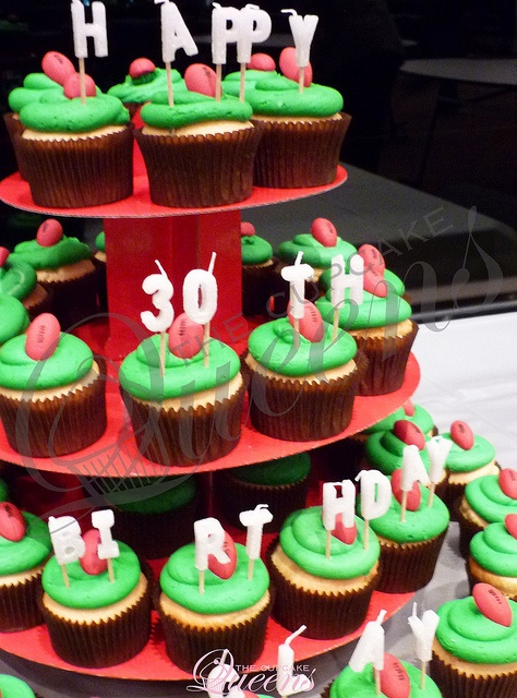 Footy themed birthday cupcakes!