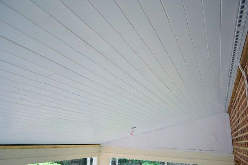 How To Install A Wood Plank Ceiling Wood Plank Ceiling