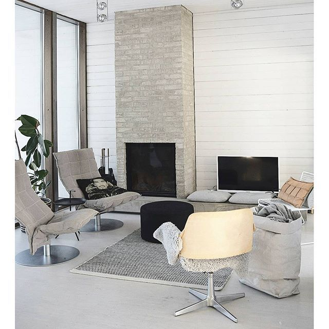 A Pair Of Woodnotes Swivel K Chairs Are In Place Of The Sofa. Living Room. Room  InteriorSocial MediaSofa