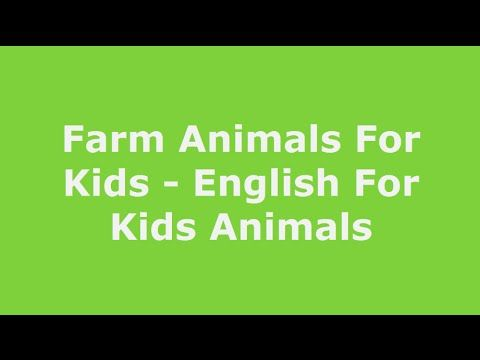 ENGLISH FOR KIDS NVT ★ Farm Animals For Kids | Animals In English | Lear...