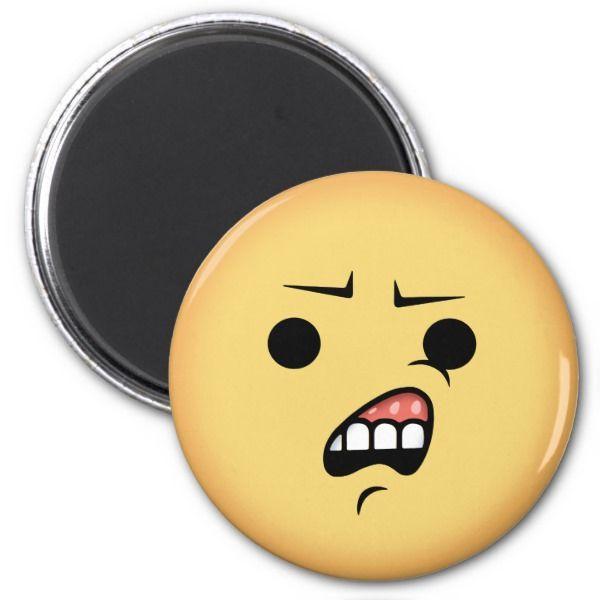 WTF Emoji Magnet | Zazzle.com | Stylin' Emoji'