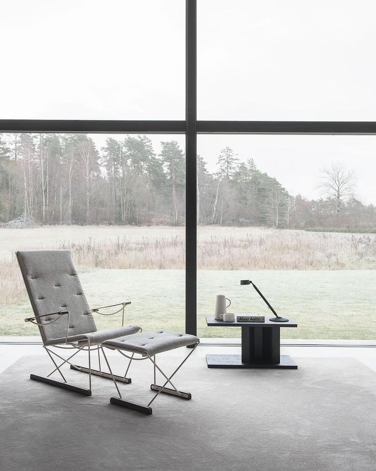 Massproductions - Spark Lounge Chair and Spark Foot Stool