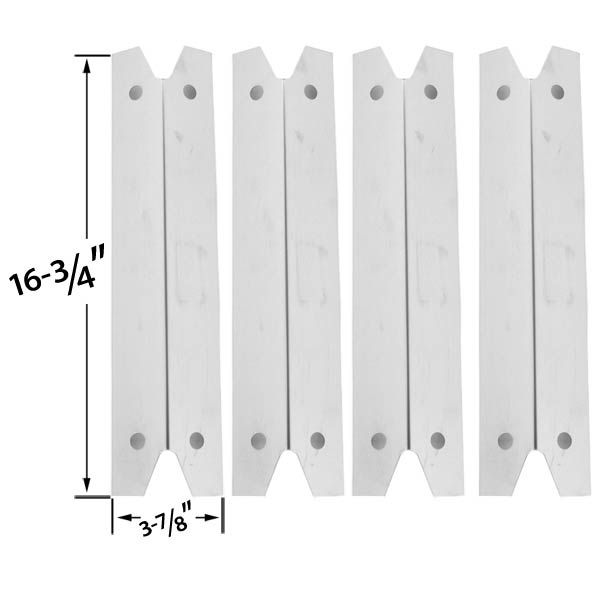 4 PACK UNIVERSAL STAINLESS STEEL HEAT SHIELD FOR FOR GRILL CHEF GC7550, BRINKMANN, CHARMGLOW & MEMBERS MARK GR3055-014684 MODELS GRILL Fits Compatible Grill Chef Models : GC7550