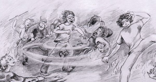 """A scene from the first chapter of """"The Omega Children."""" Find out who they are..... http://www.omegachildren.co.nz/about.html"""