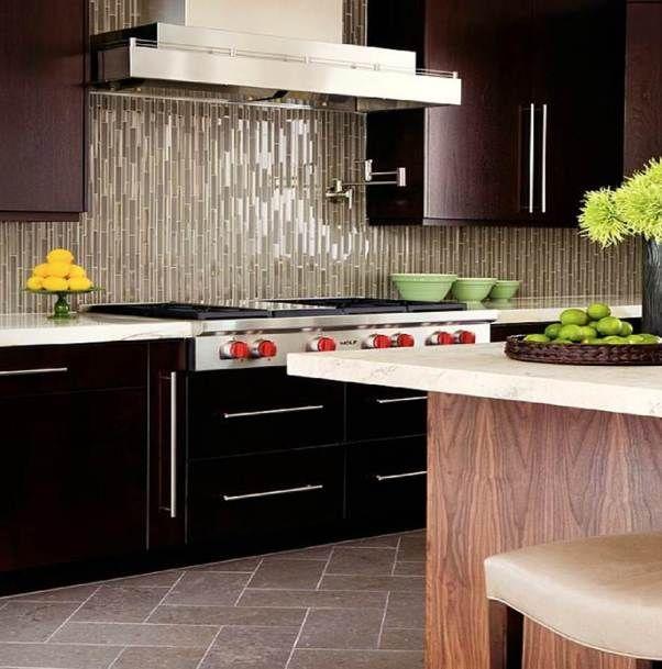 Linear Glass Tile Backsplash Tile Pinterest