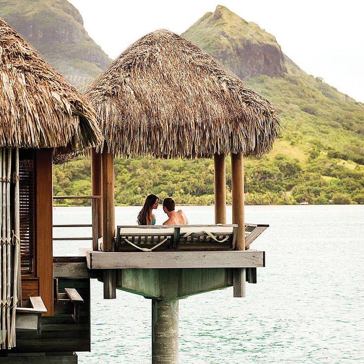 Four Seasons Resort Bora Bora.   https://www.pinterest.com/littlehugbrand