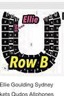 #Ticket  2 Ellie Goulding Sydney Tickets Qudos Allphones Arena ROW B FRONT LOWER SECTION #Australia