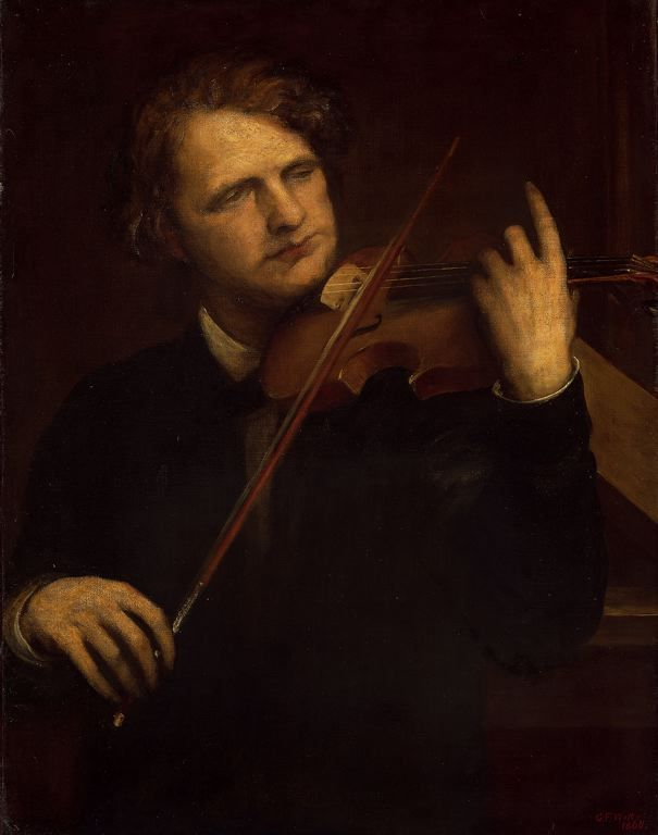 A Lamplight Study: Herr Joachim (1868). George Frederick Watts (English, 1817-1904). Oil on canvas. The Art Institute of Chicago. Joseph Joachim (Hungarian, 1831-1907) performed in March 1868 works by...