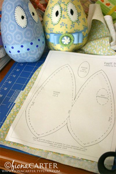 EggIE softie tutorial (a pictorial step by step) from Living on the Crafty Side of Life.