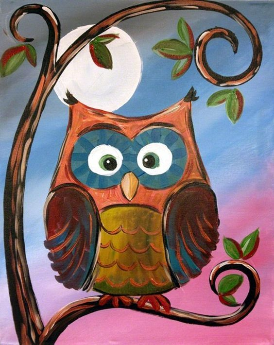 25 best ideas about owl canvas paintings on pinterest 3 for Three canvas painting ideas