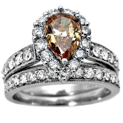 chocolate diamond rings google search - Chocolate Wedding Rings