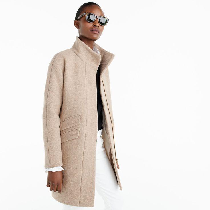 Jcrew 2017 cocoon coat in sandstone with images coats