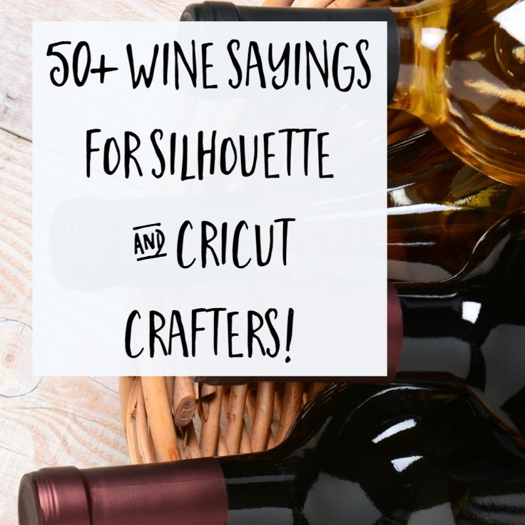 Need craft project inspiration for a wine themed project with your Silhouette Cameo or Cricut? I've got a whole list for you!