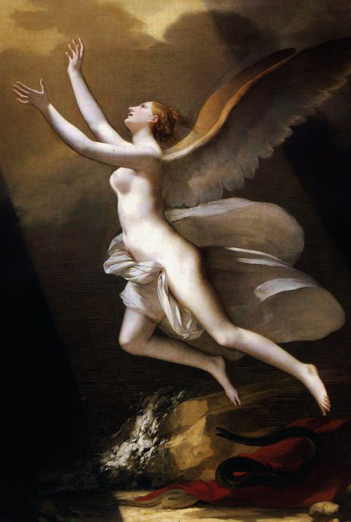 The soul breaking the bonds that attach to the land - Pierre Paul Prud'hon