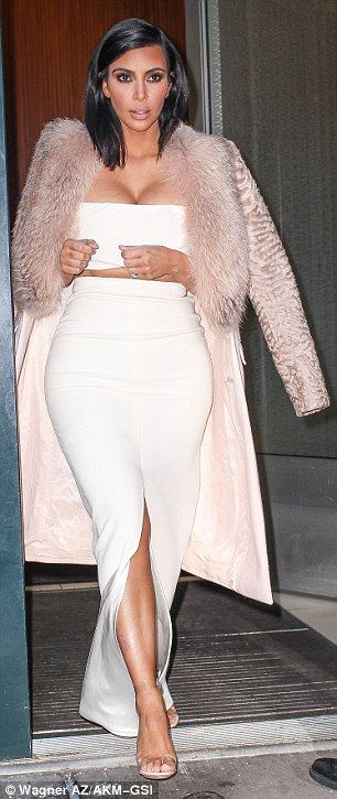 Kim and Khloe Kardashian compete for most revealing bustline in NYC #dailymail