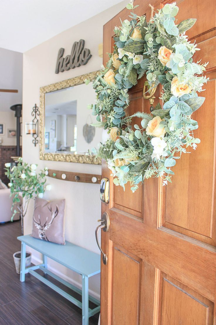 a French Country home look with natural-looking florals
