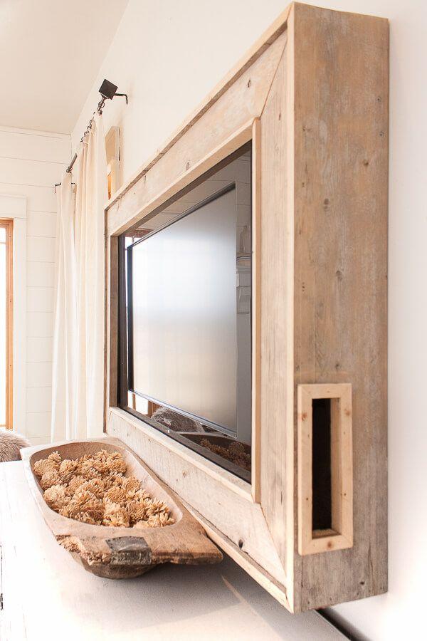 How To Make Your Own Tv Frame Framed Tv Home Diy Diy Home Decor