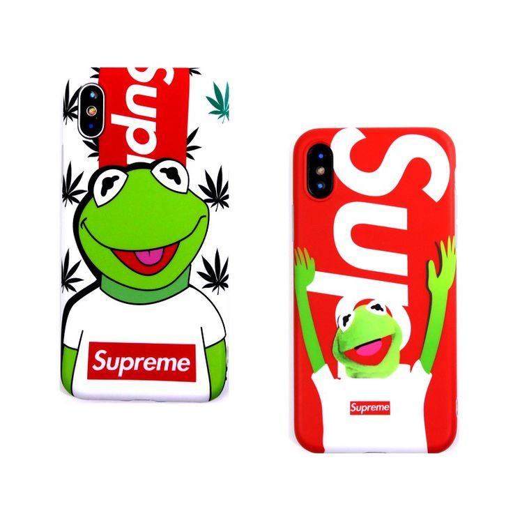 supremeカエルiPhonex/8ケース新品。手を上げた可愛い動物、蛙柄のソフトケースで、超キュート。アメリカファンにおすすめのファッション携帯カバーです。