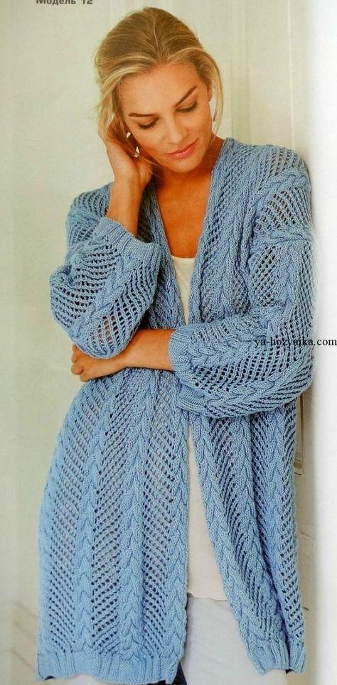кардиган спицами вязание спицами для женщин модные модели 2017 года