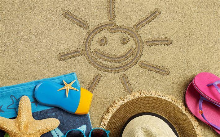 Hämta bilder resa i sommar, beach, sand, stranden tillbehör, resor