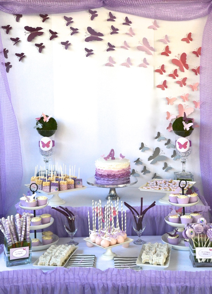 My Bella's Butterfly Dessert Table for her 4th Bday.