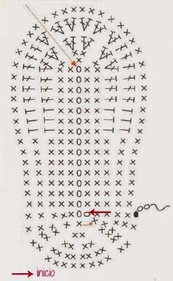 La Magia del Crochet: ZAPATITOS PARA BEBÉ DE 6 A 9 MESES