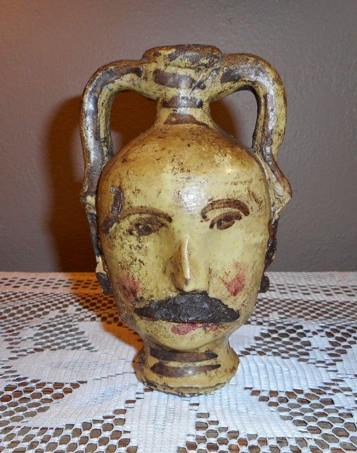 19th century Folk Art Figural pottery