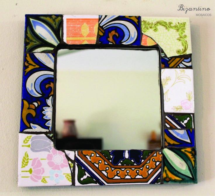M s de 25 ideas incre bles sobre espejo de azulejos en for Espejo con borde biselado