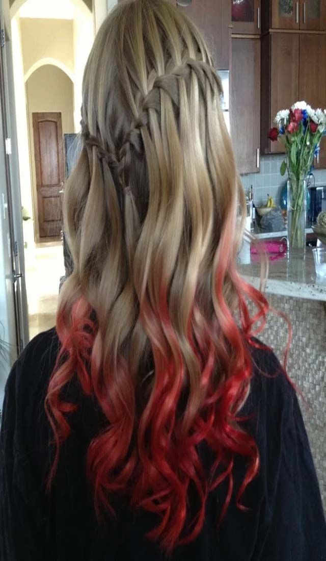 Crazy Red Hair Color Cleverstyling Dip Dye Hair Kool Aid Hair Blonde Hair With Red Tips