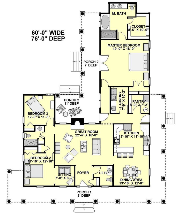 Traditional House Plan has square feet with 3 bedrooms  2 full baths  1  half bath from Ultimate Home Plans  See floor plan features for Plan. 115 best House images on Pinterest   Architecture  Facades and