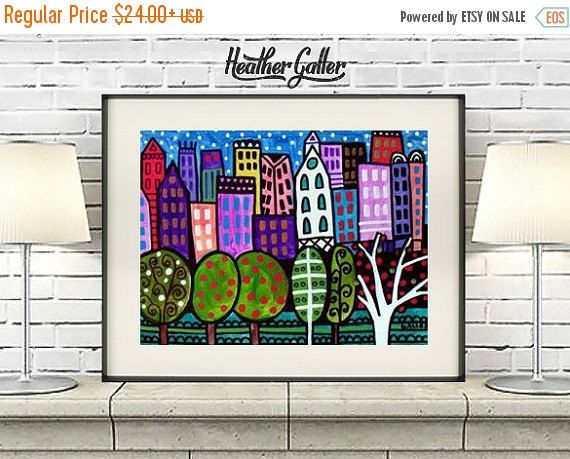 50% Off Today- New York City Art - Nyc print - Poster Central Park (HG725)