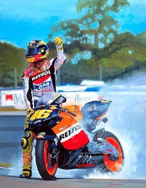 Racing Cafè: Motorcycle Art - Alan Jones