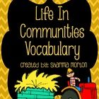 Thanks for downloading my product!  This is a preview to my Communities Unit that will introduce vocabulary. Included is:  Page 1: Cover Pages 2-8:...