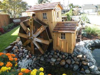 17 best images about waterwheel on pinterest gardens for Build backyard water garden
