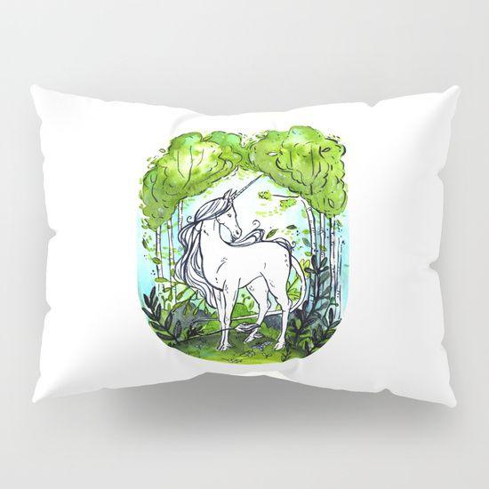 The last unicorn Pillow Sham by Erika Biro | Society6