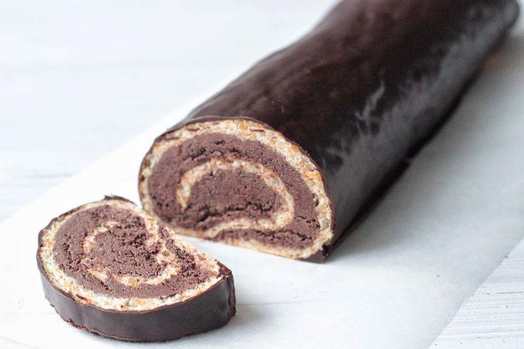cokoladova bezlepkova rolada paleo