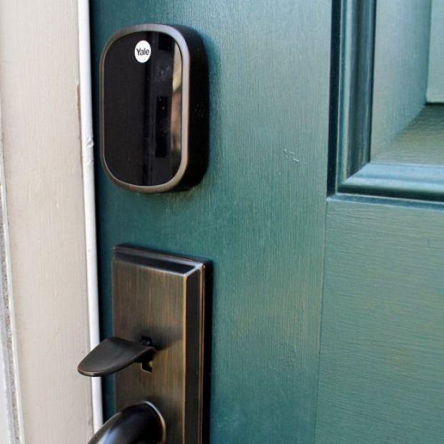 Keyless Electronic Doorlock Review Why A Keyless Touchscreen Door Lock Was A Good Fit For This Family Windows Door Handles Door Locks Keyless