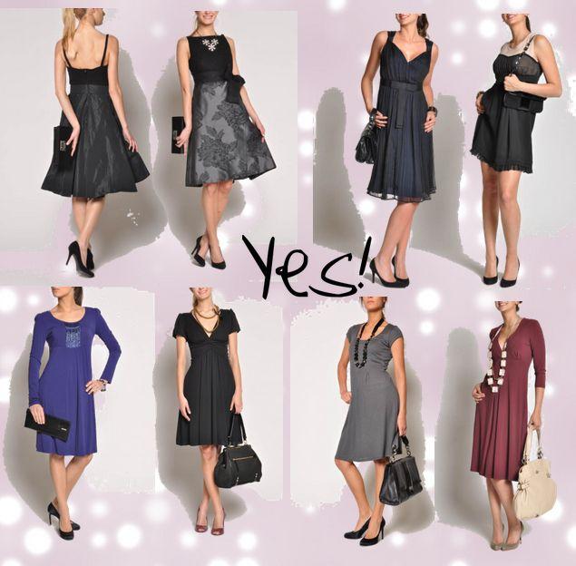 Pear shaped dresses
