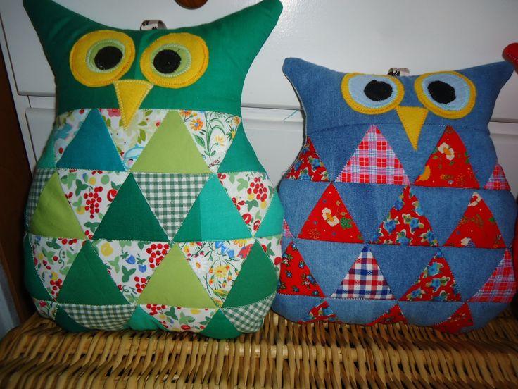 sowa - owl - patchwork