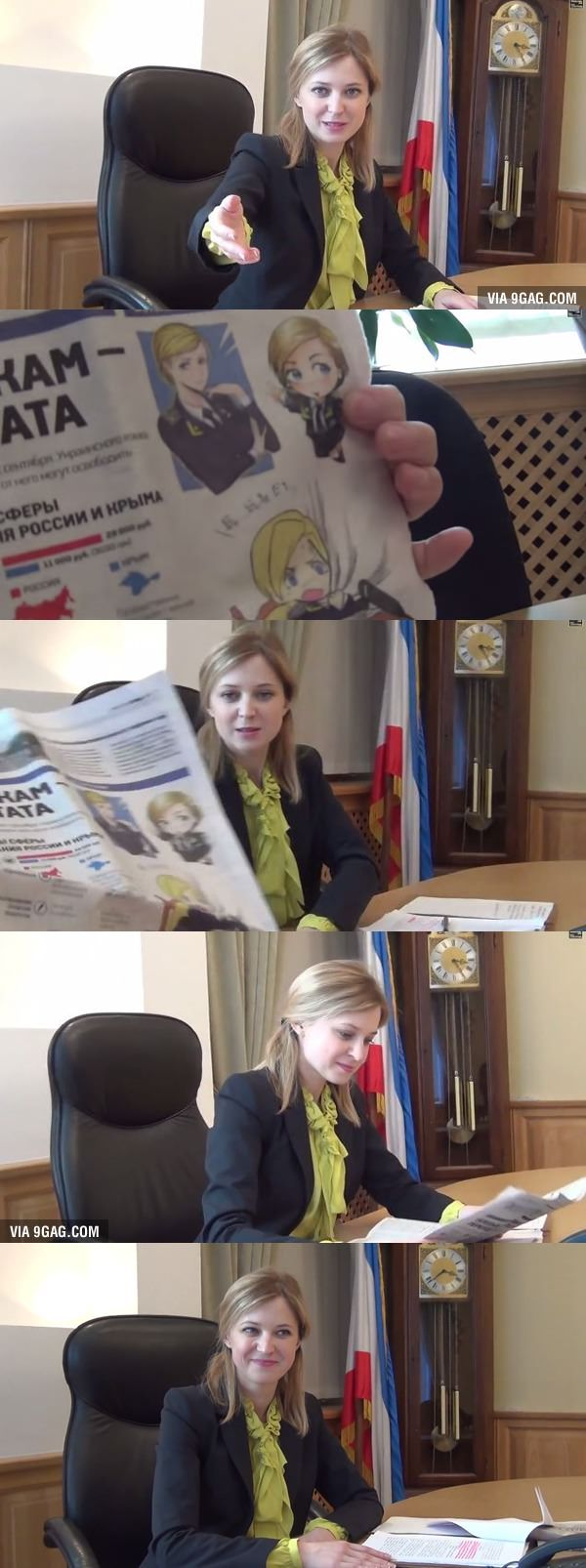 Natalia Poklonskaya reacts to fanart