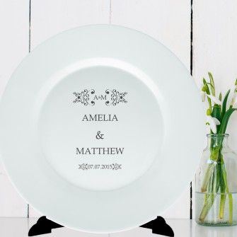 Personalised Plate Classic Frame Design - Couples : personalised baby plate set - Pezcame.Com