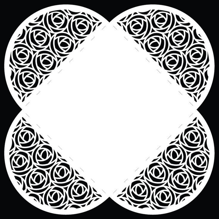 Retro Rose Envelope #2 - Free Cut File |