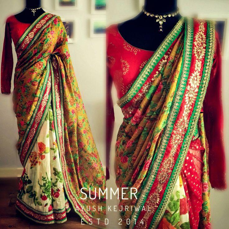 Saree by Ayush Kejriwal For purchases email me at designerayushkejriwal@hotmail.com or what's app me on 00447840384707 We ship WORLDWIDE. Instgram - designerayushkejriwal