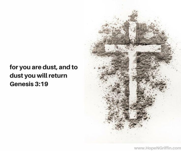 Bible Ash Wednesday dust Genesis 3_19