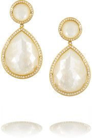 IppolitaRock Candy 18-karat gold, mother-of-pearl and diamond earrings