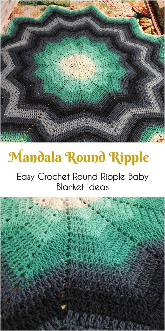 Mandala de Crochet Cobertor Ripple